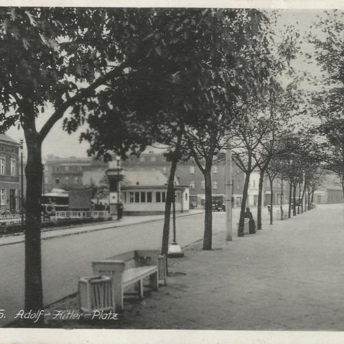 Pocztówki Rybnik - Adolf Hitler Platz (Rybnik do 1945 r)