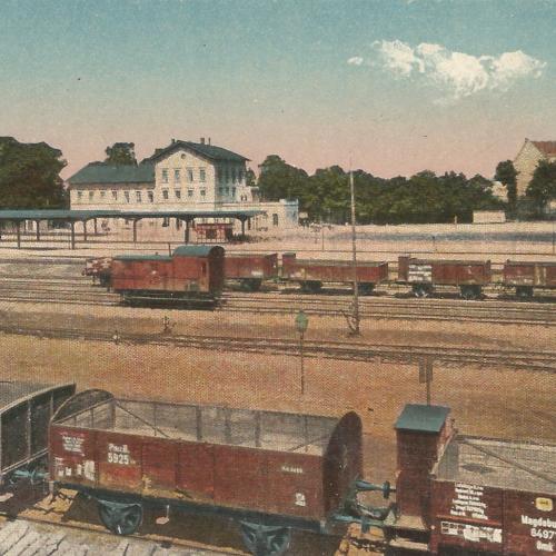Pocztówki Rybnik - Bahnhof (Rybnik do 1945 r)