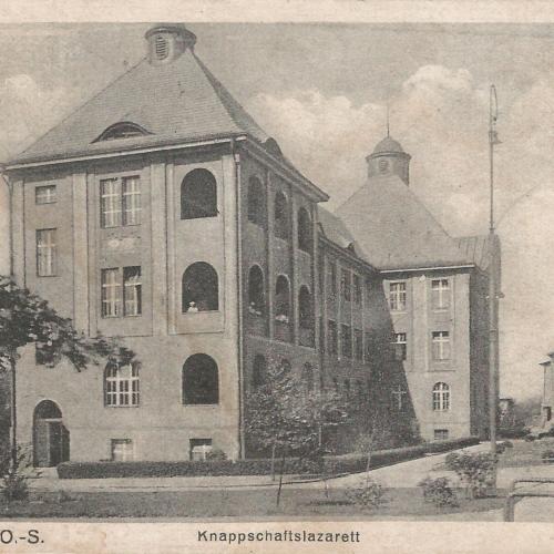 Pocztówki Rybnik - Knappschaftslazarett (Rybnik do 1945 r)