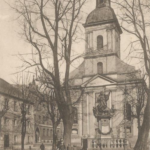 Pocztówki Rybnik - Pfarrkirche und Schule (Rybnik do 1945 r)