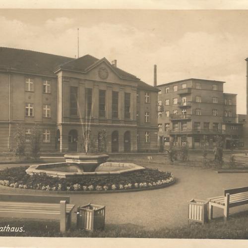 Pocztówki Rybnik - Rathaus (Rybnik do 1945 r)