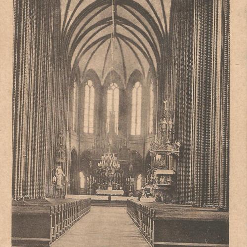 Pocztówki Rybnik - Wnętrze Bazyliki Św. Antoniego (Rybnik do 1945 r)